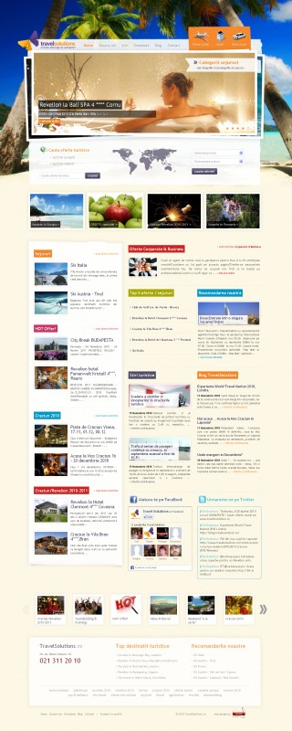 Travel Solutions - Web design