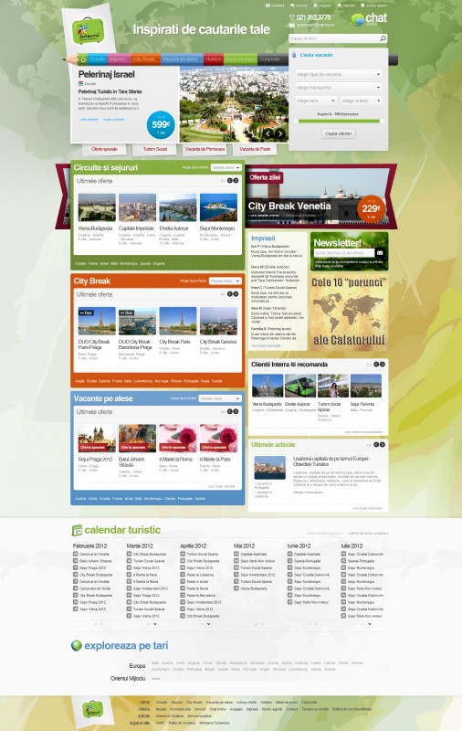 Interra - Web design