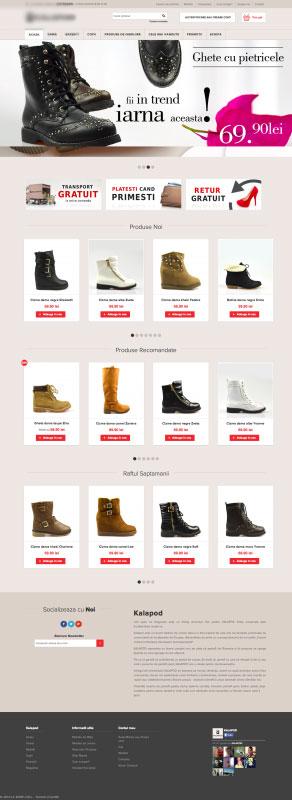 shop online kalapod.ro, realizare site. kalapod.ro, web design, webdesign