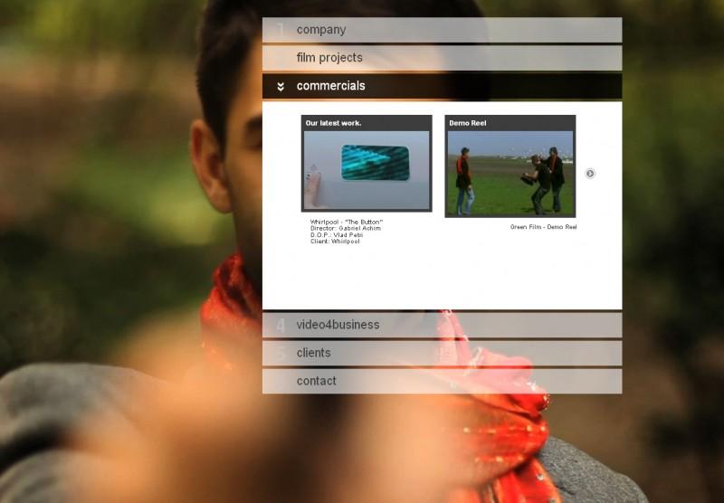 Greenfilm - Web desing