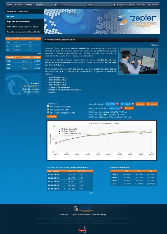 Zepter Invest - Web design