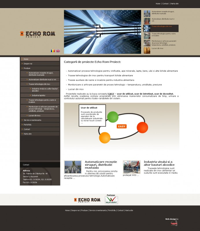 Echorom - Web design