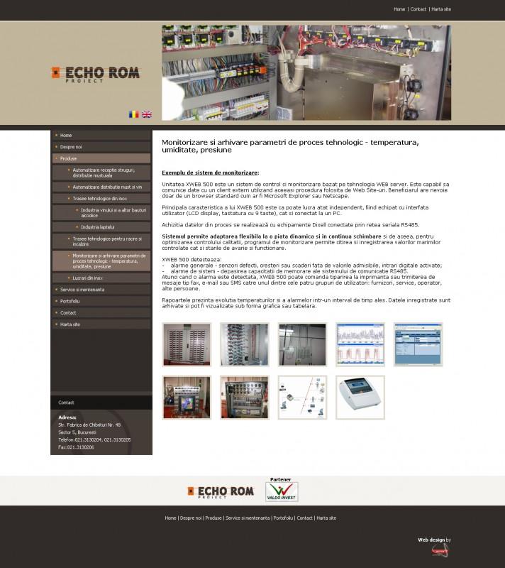 Echorom - Web design