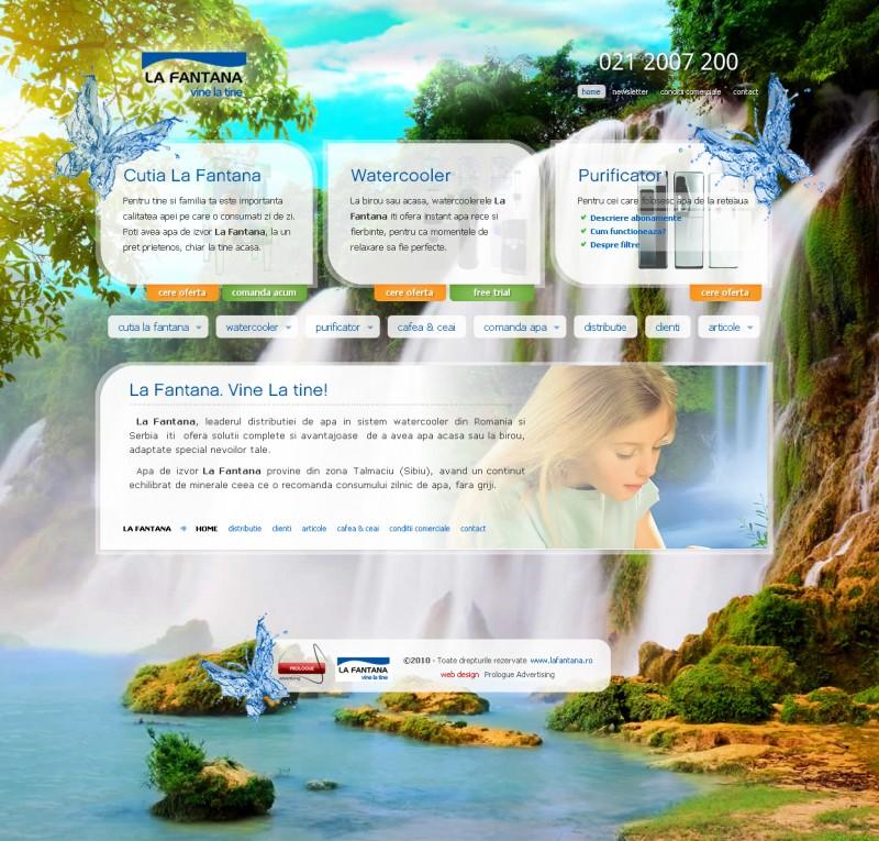 La Fantana - Web design