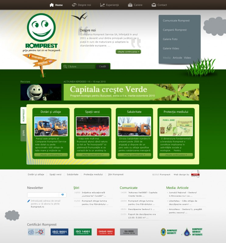 Romprest – Web design