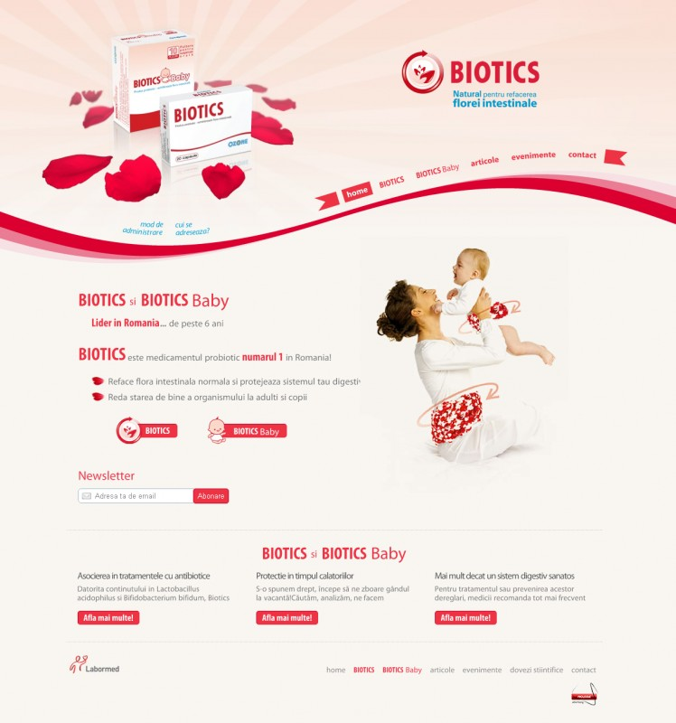 Biotics - Web design