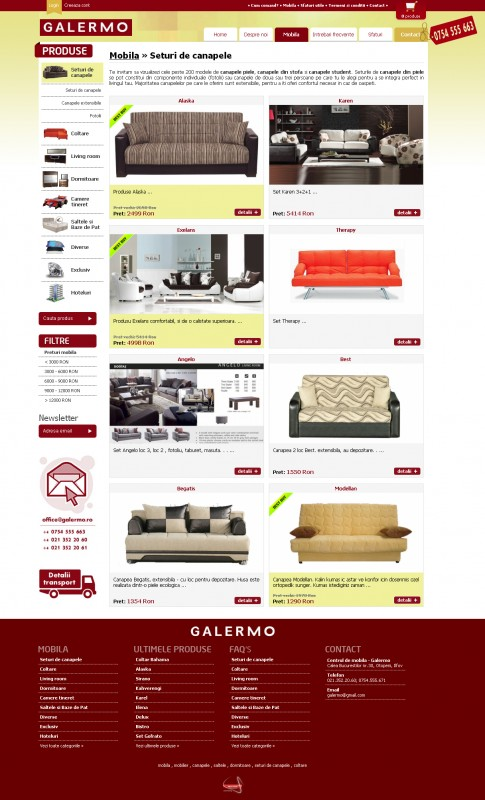 Galermo - Web design