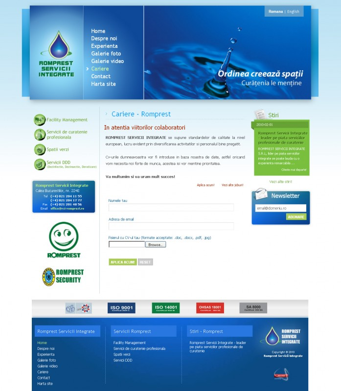 RSI Romprest - Web design