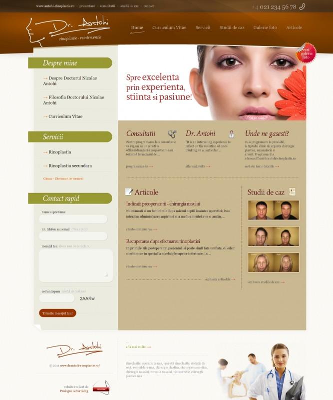 Dr Antohi Rinoplastie - Web design