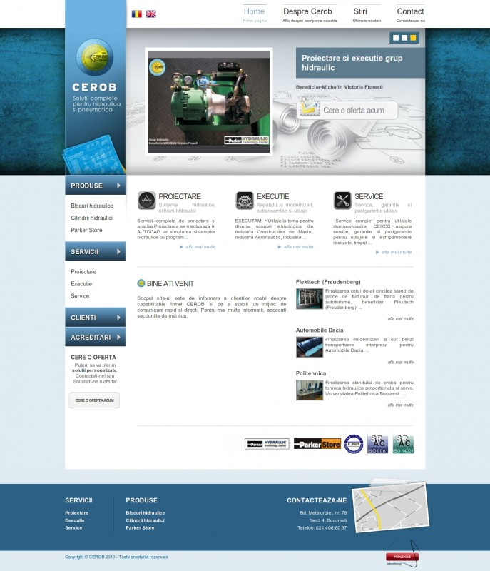 Cerob - Web design