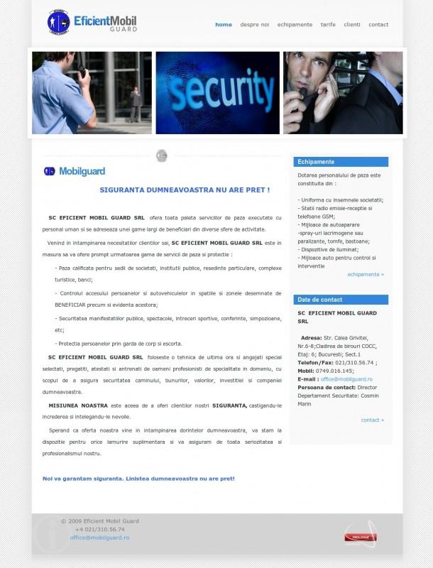 Mobilguard - Web design