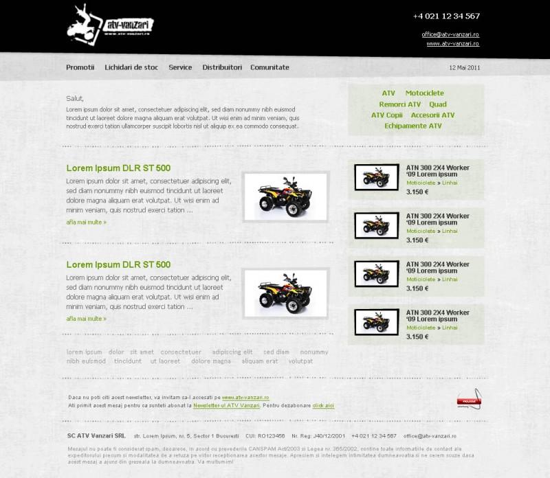 ATV Vanzari - Newsletter