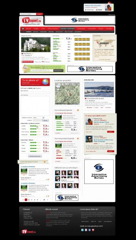 TV Travel - Web design