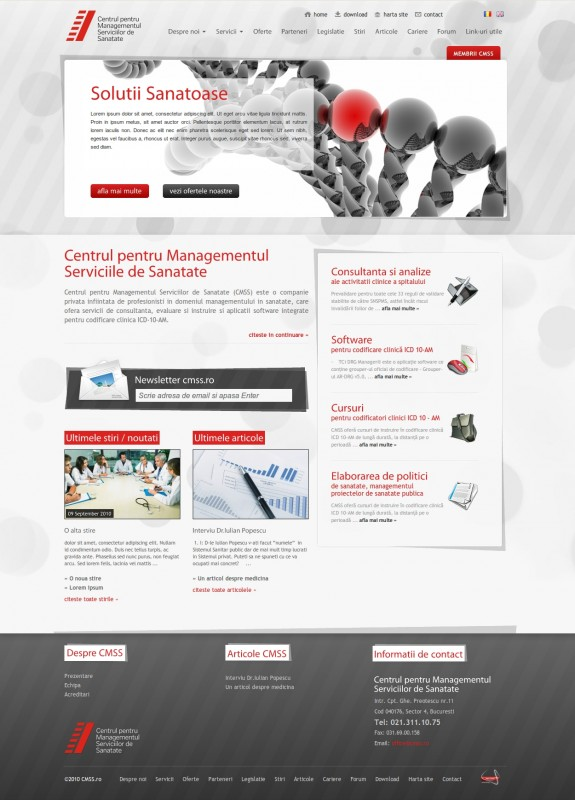 CMSS - Web design