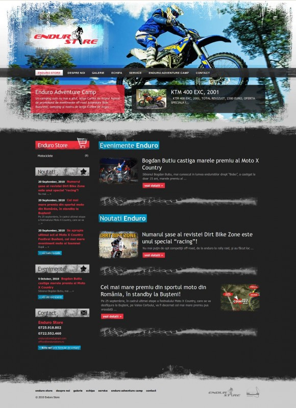Enduro Store - Web design