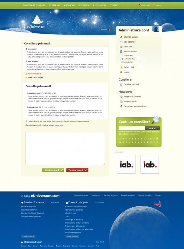 eUniversum - Web design