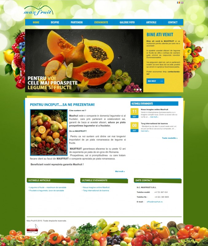 Maxfruit - Web design