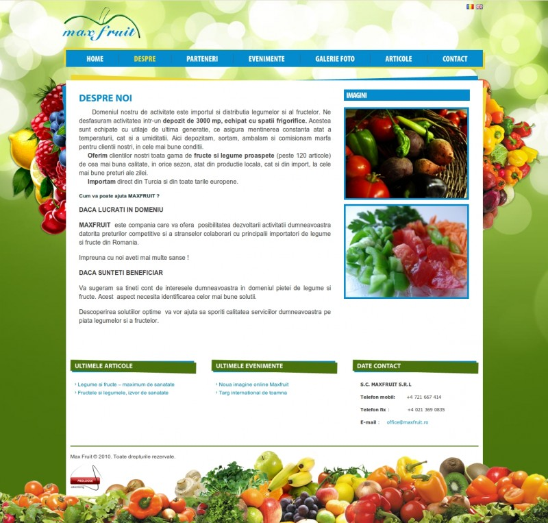 Maxfruit - Web design