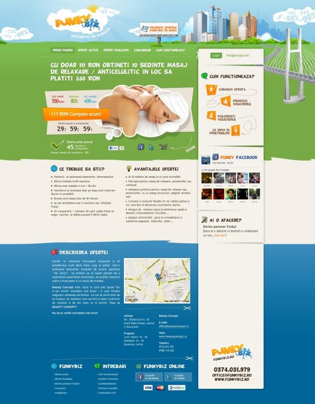 FunkyBiz - Web design