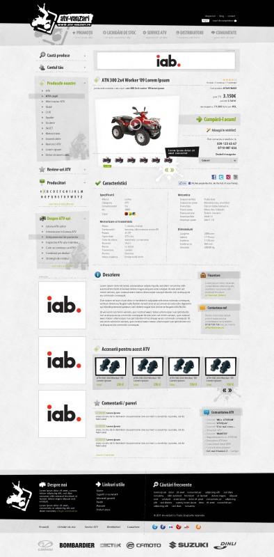 ATV Vanzari - Web design