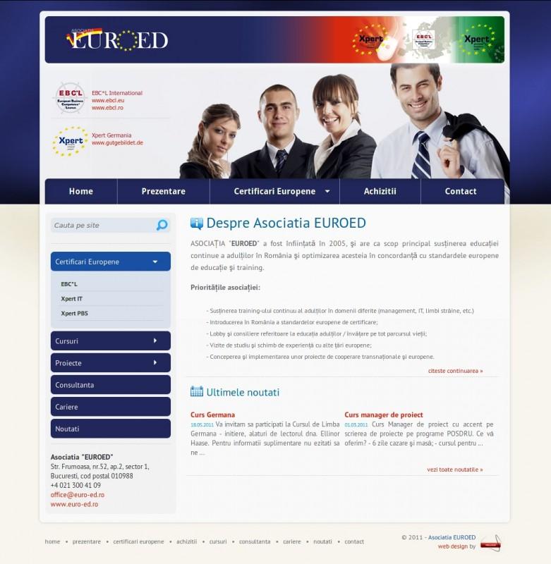 Asociatia EuroEd - Web design
