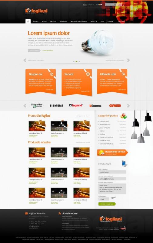 Fogliani - Web design