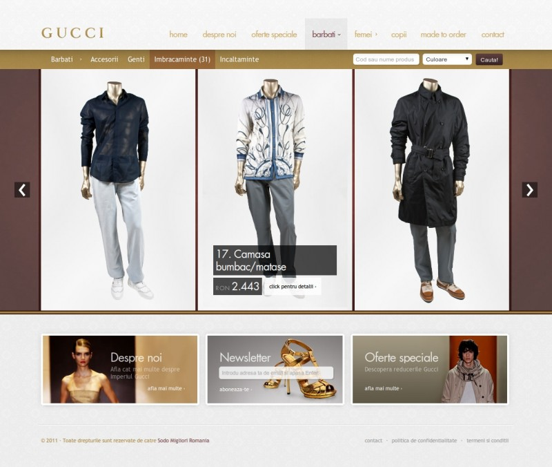 Gucci - Web design