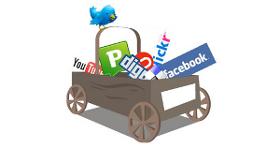 Social media castiga teren