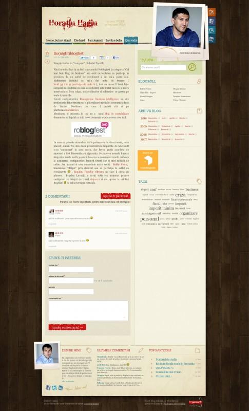 Horatiu Hagiu - Web design