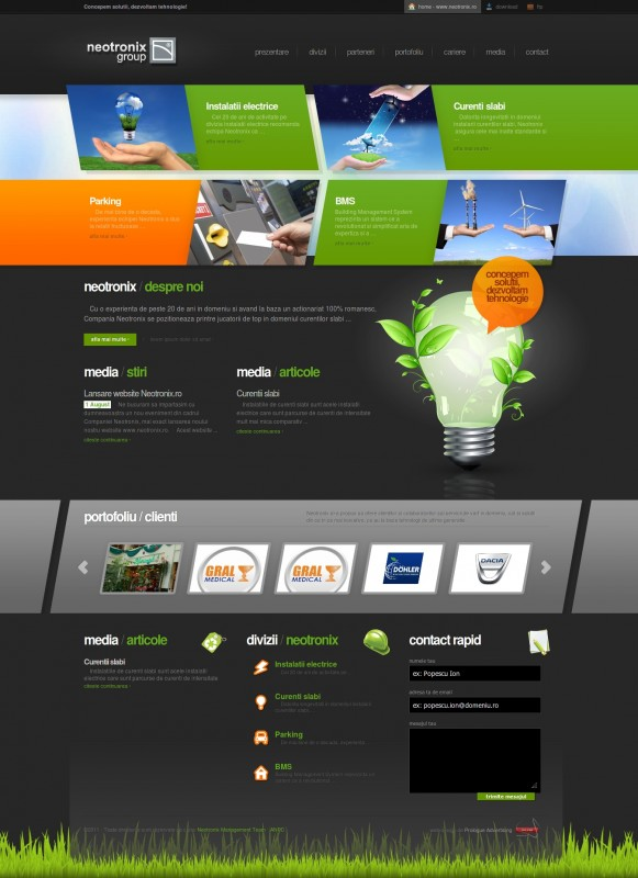 Neotronix - Web design
