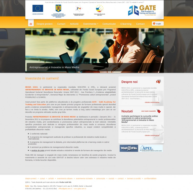 Gate - Web design