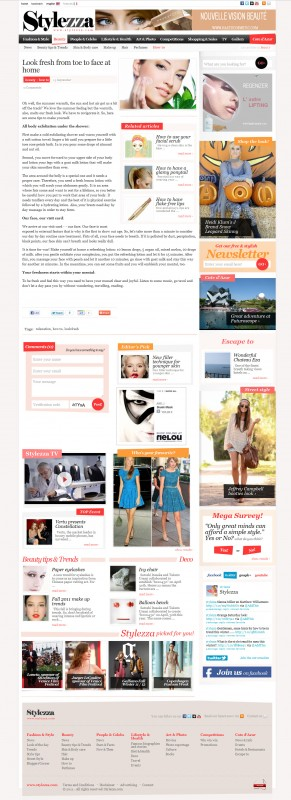 Stylezza - Web design