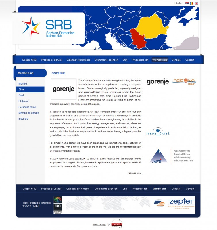 SRB Club - Web Design