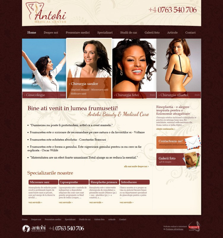 Antohi Medical Center - Web design