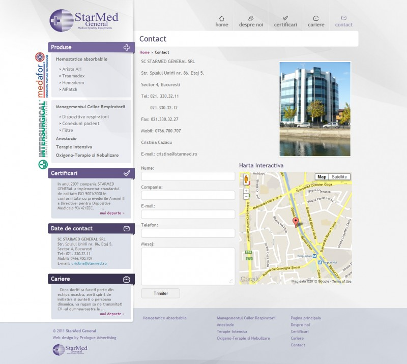 Starmed - Web design