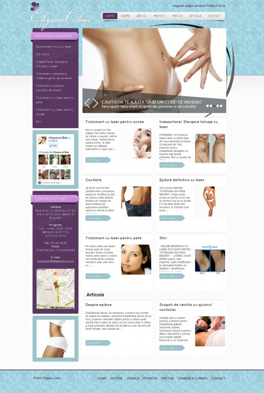 Elegance Clinic - Web design