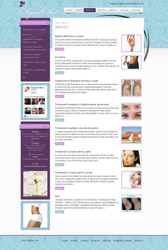 Elegance Clinic - Web design