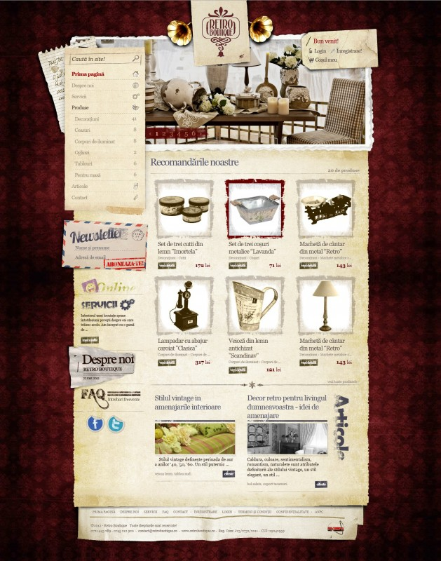 Retro Boutique - Web design