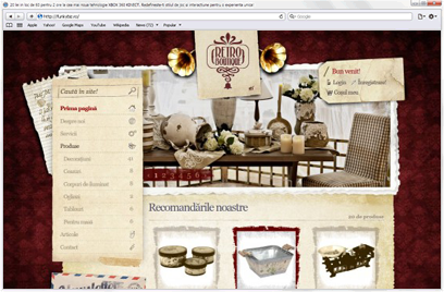 web design- Realizare site Retro Boutique, magazin online