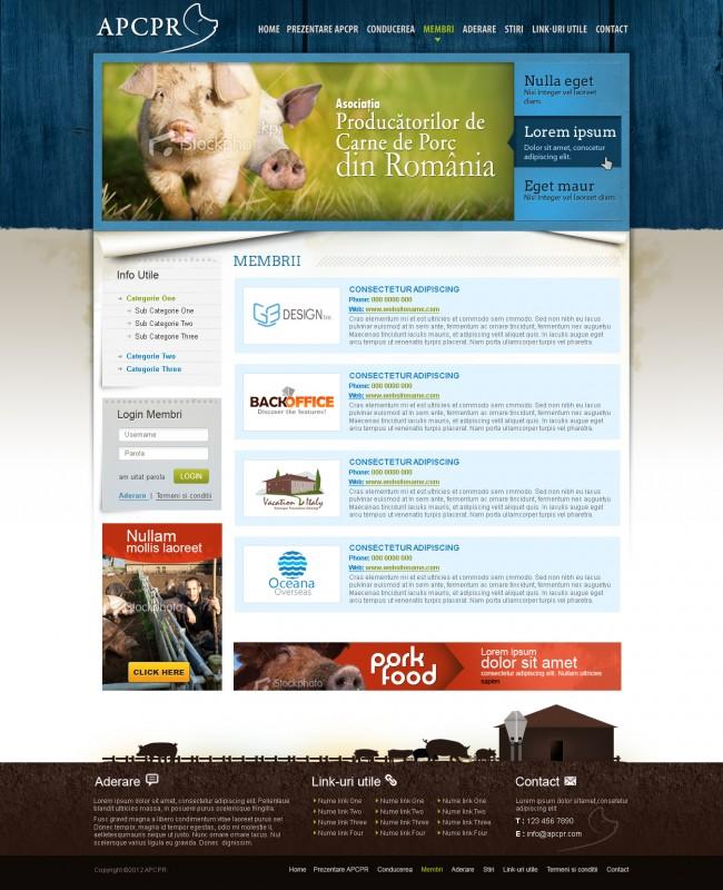 Apcpr - Web design