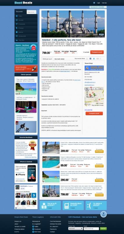 Bestdealz - Web design