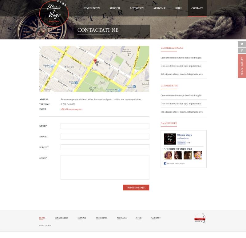 Utopiaways - Web design