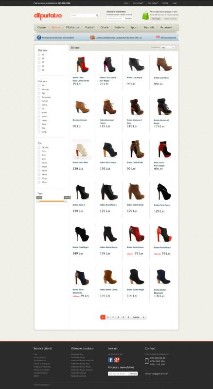 Depurtat - Web design