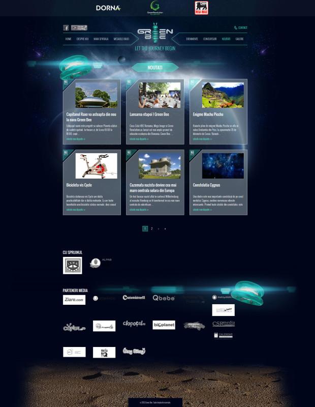 Green Bee - Web design
