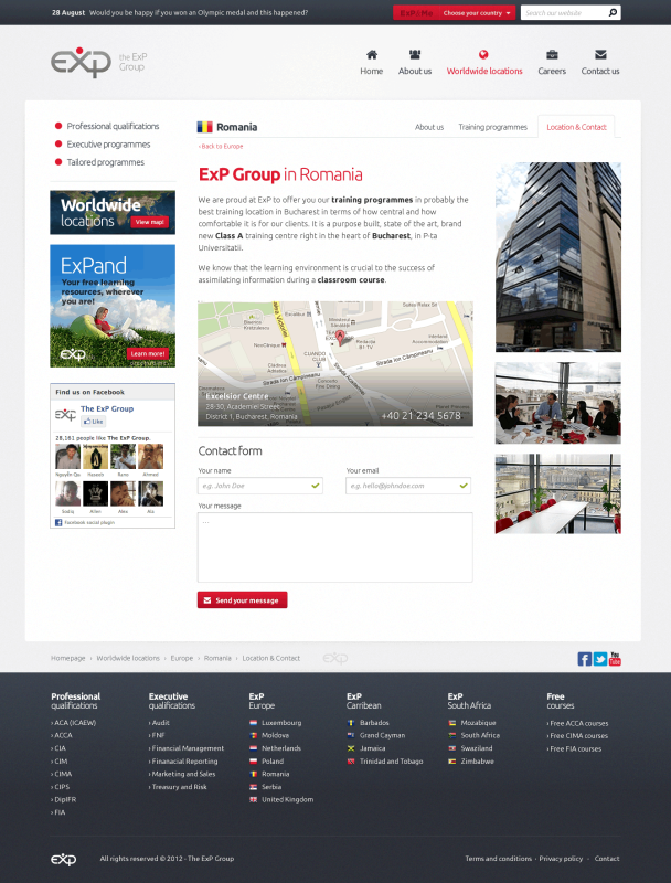 ExP Group - Web design