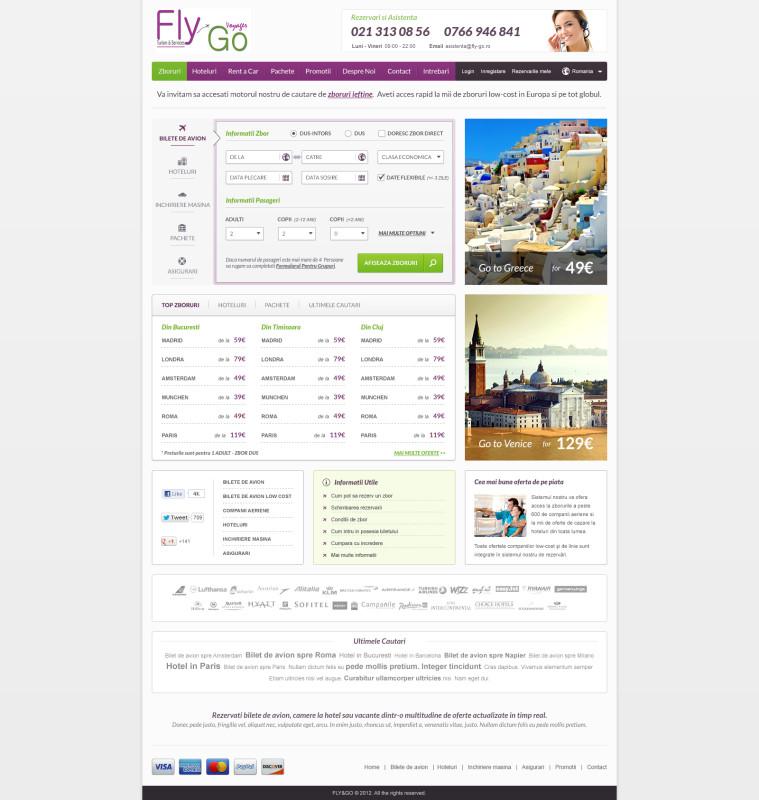 Fly&Go - Web design