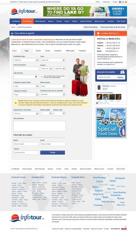 Infotour.ro - Web design