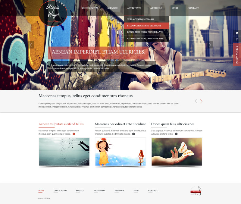 Utopiaways - Web design