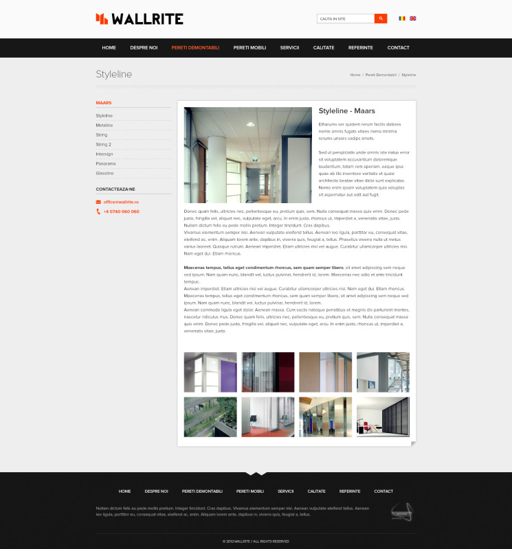 Wallrite - Web design