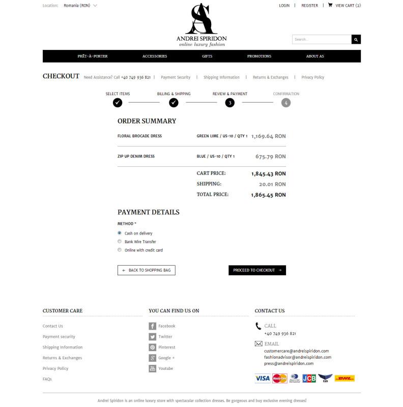 Andrei Spiridon - Web design